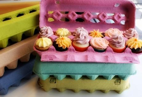 Huevera para cupcakes